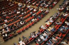 People sitting in auditorium